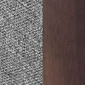 fabric grey/dark walnut